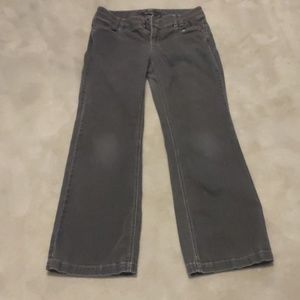 WHBM dark gray boot cut jeans